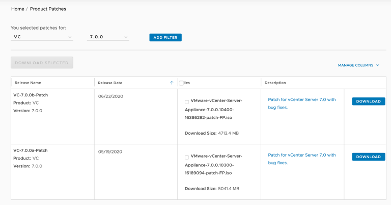 download vcsa iso